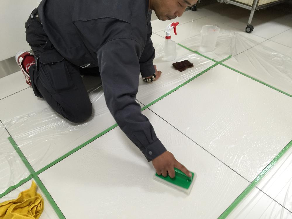 防滑施工工事の下地処理